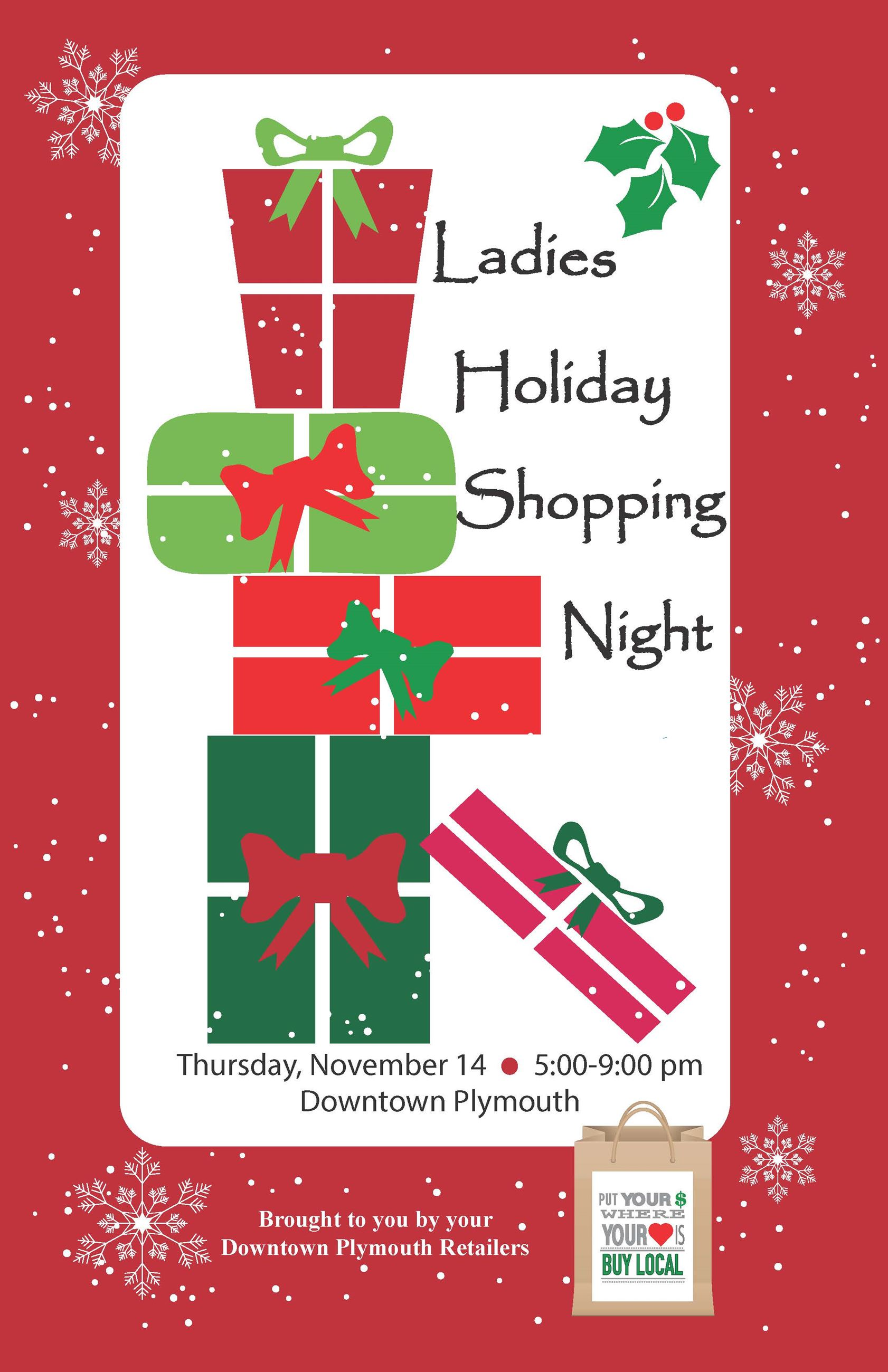2019 Ladies Holiday Shopping Poster