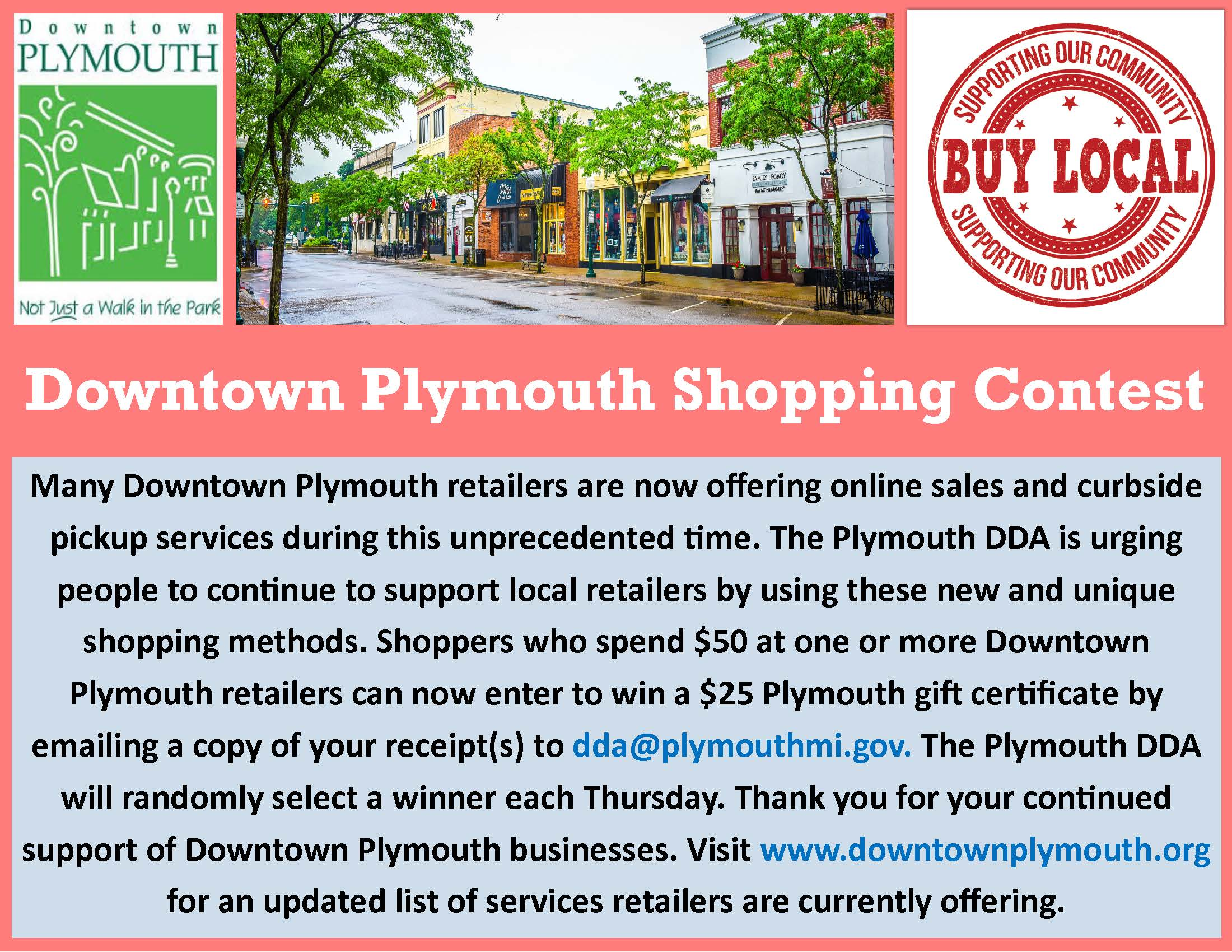 Downtown Plymouth Retail Contest