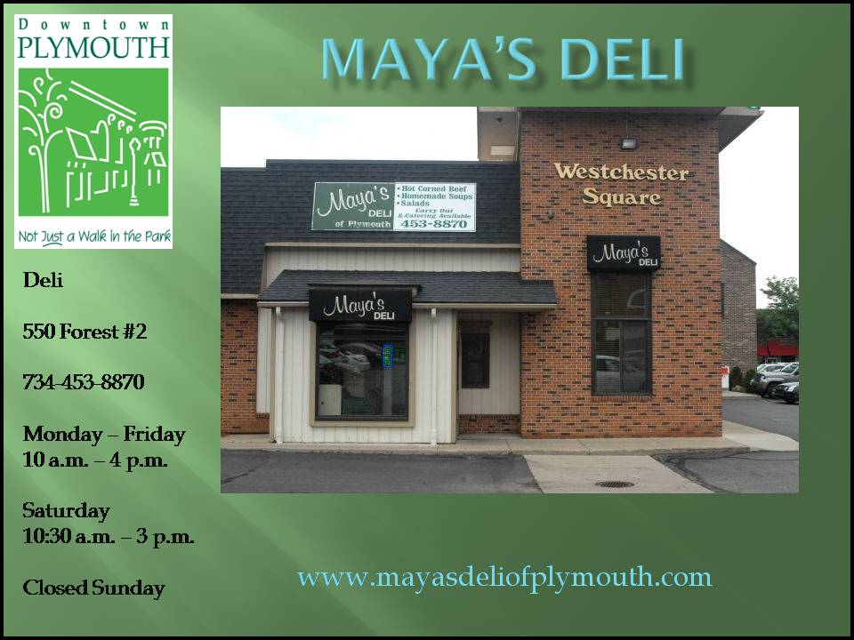 Restaurants City Of Plymouth Downtown Development Authority